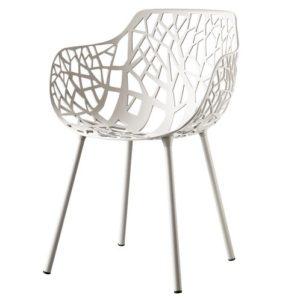 chaise foret avec accoudoirs en aluminium